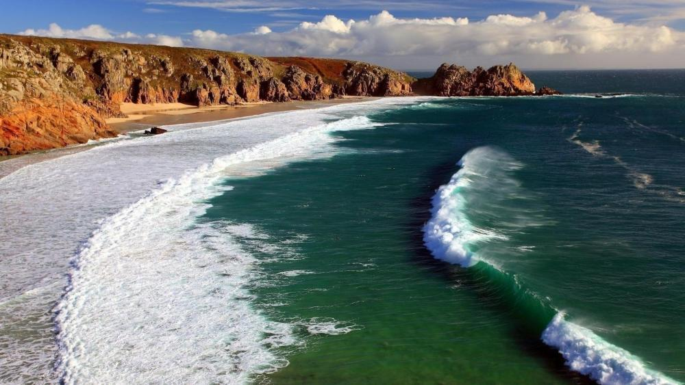 Porthcurno Beach wallpaper