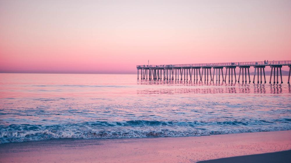 Hermosa Beach Pier (California) wallpaper