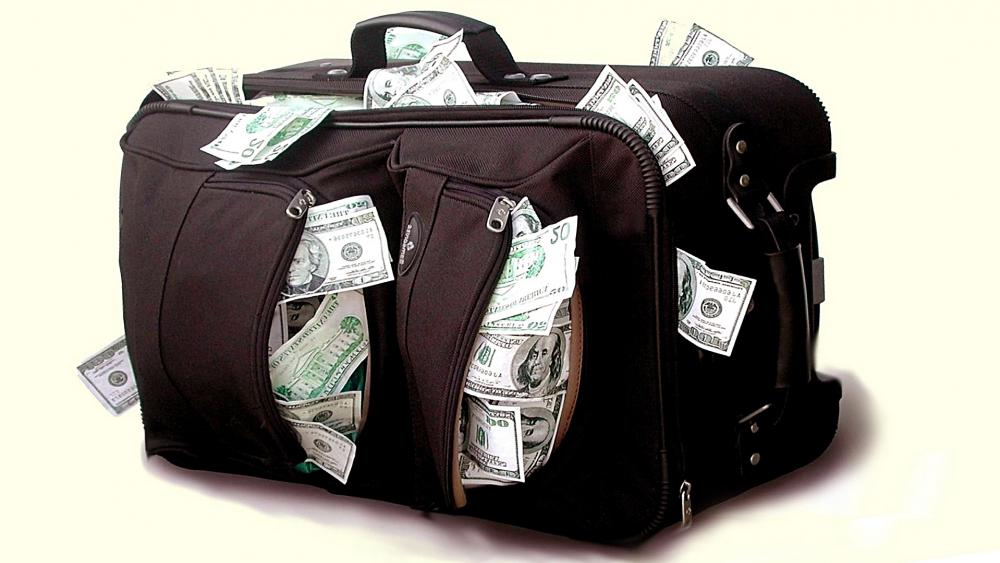 Case with Dollars wallpaper