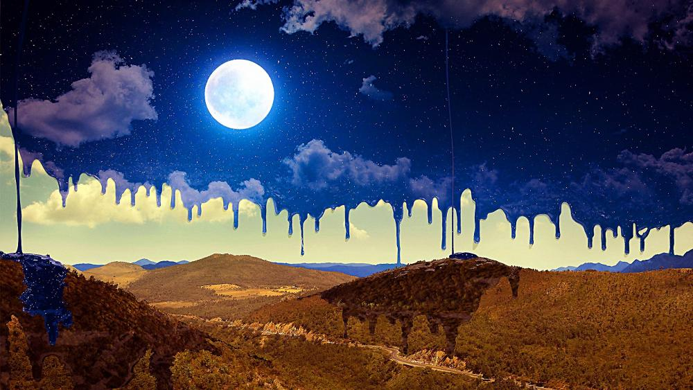 Painted Sky Moon wallpaper