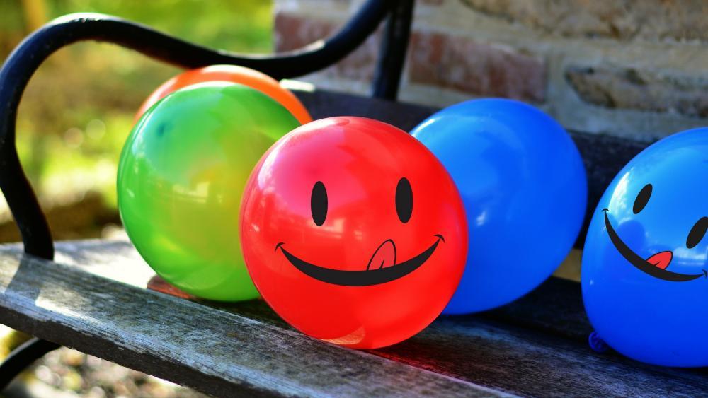 Colorful balloons wallpaper
