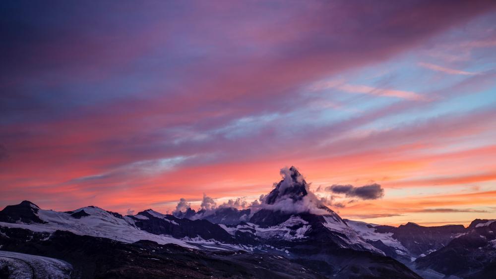Cloudy Matterhorn wallpaper