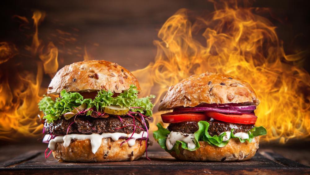 Hamburgers wallpaper