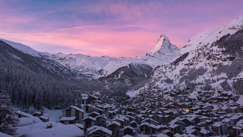 Matterhorn from Zermatt (Switzerland) wallpaper