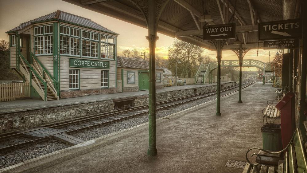 Corfe Castle railway station (Swanage Railway) wallpaper