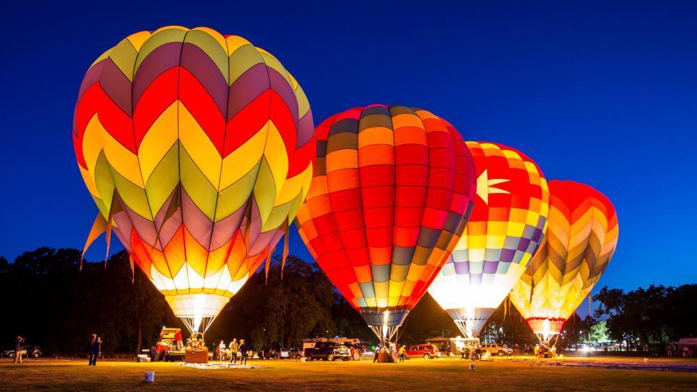 Hot air balloon festival wallpaper