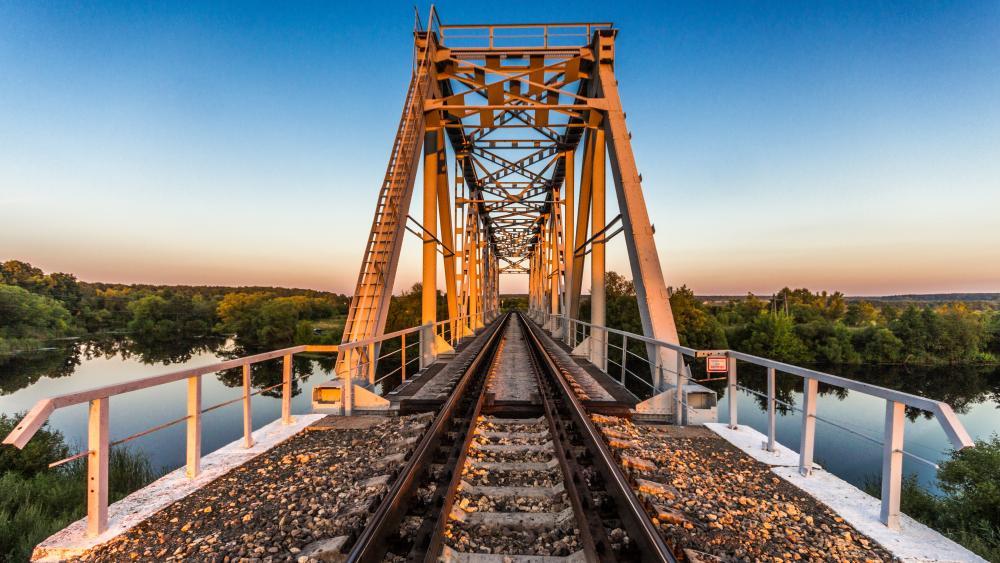 Railway bridge wallpaper