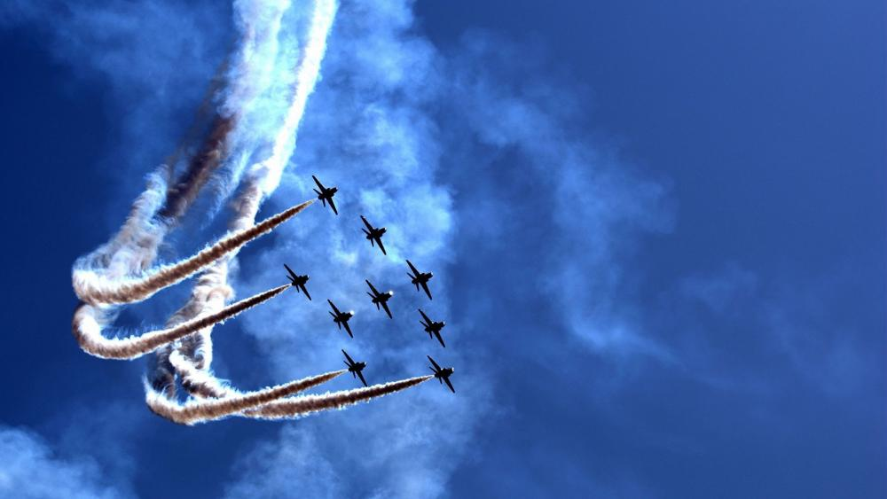 Red Arrows, The Royal Air Force Aerobatic Team wallpaper