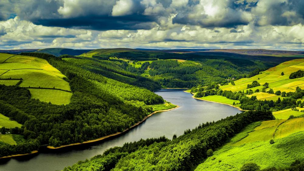 England landscape from above wallpaper