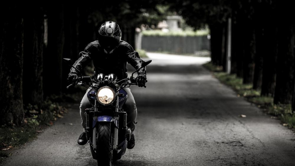 Riding a motorbike wallpaper