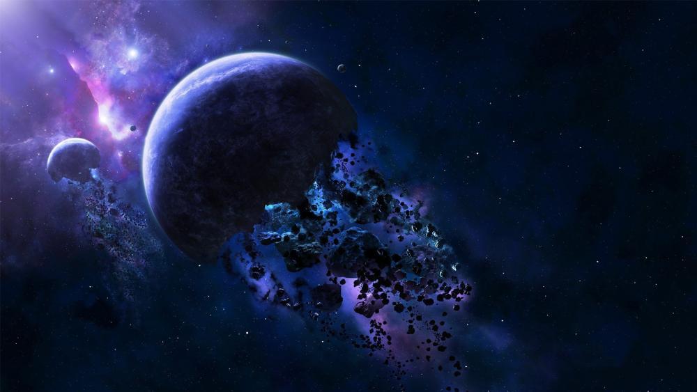 Planet explosion wallpaper