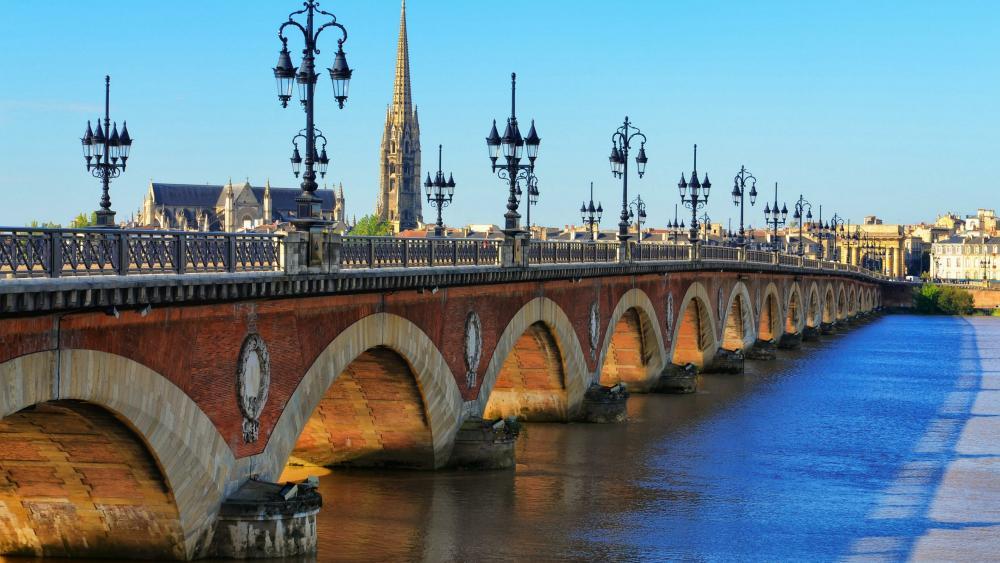 Pont de pierre wallpaper