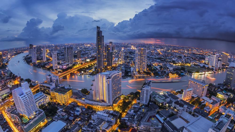 Bangkok from lebua at State Tower wallpaper