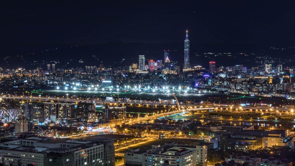 Taipei at night wallpaper