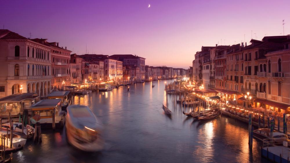Venice and the Grand Canal wallpaper