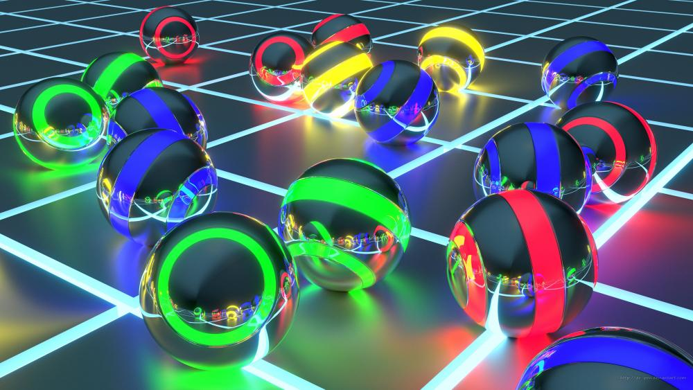 Cool 3D balls wallpaper
