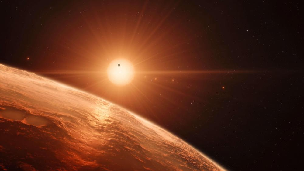 Trappist 1 exoplanet wallpaper