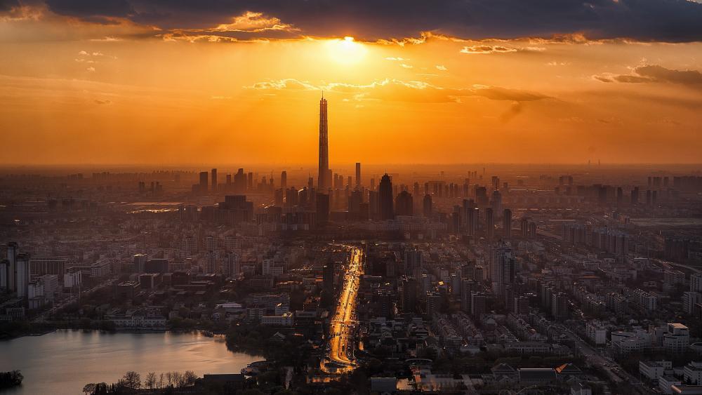 Tianjin skyline wallpaper