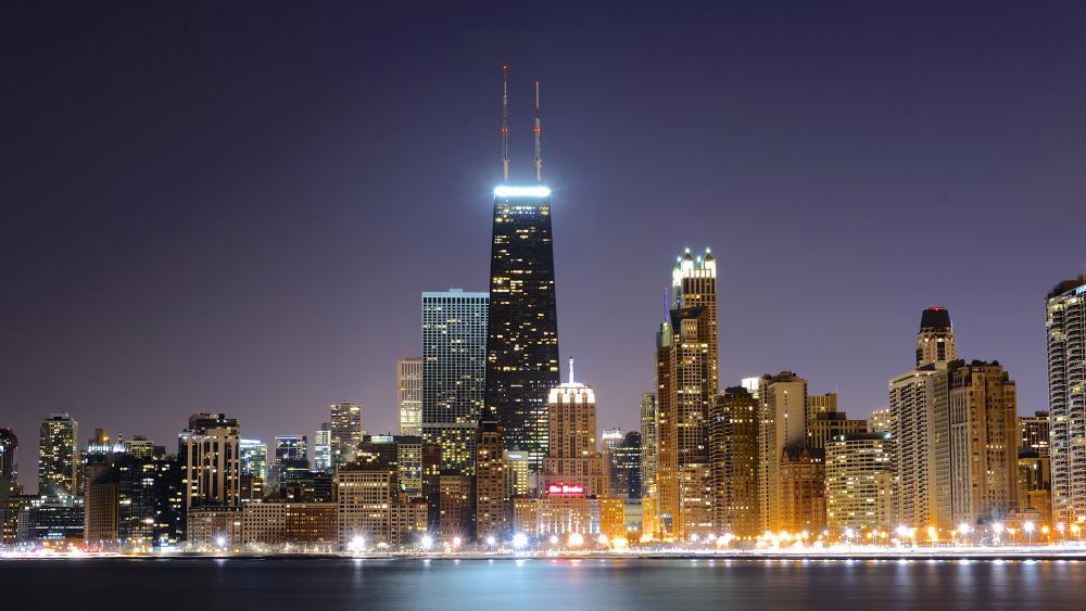 Chicago downtown and John Hancock Center wallpaper