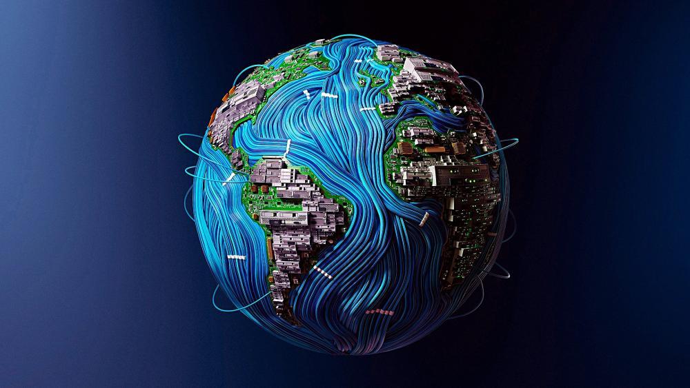 High Tech Earth wallpaper
