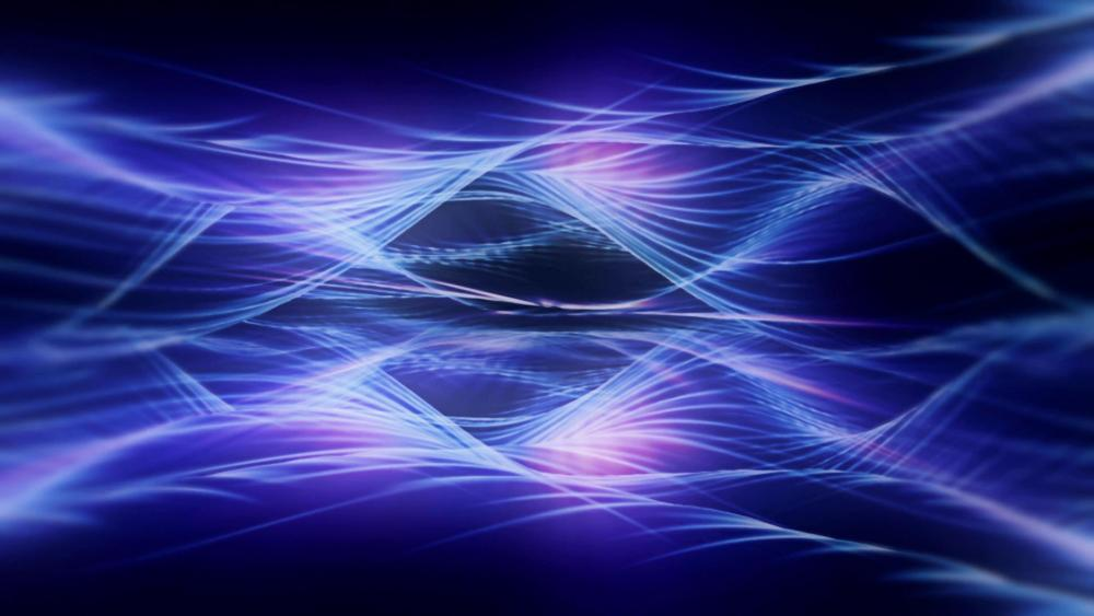 Cool blue loop light wallpaper