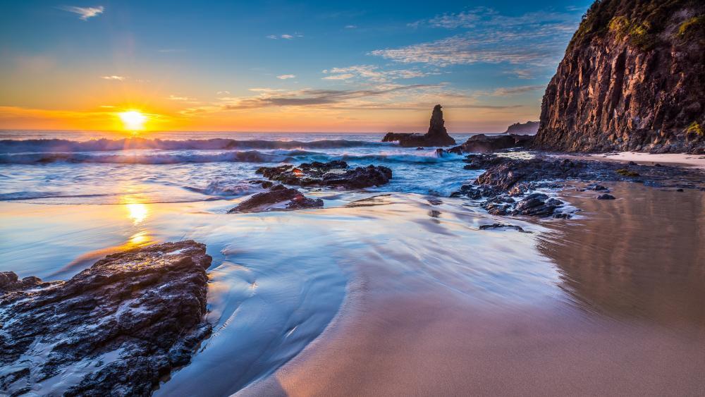 Jones Beach sunrise (Australia) wallpaper