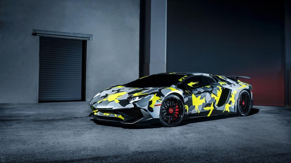 Camo Lamborghini wallpaper