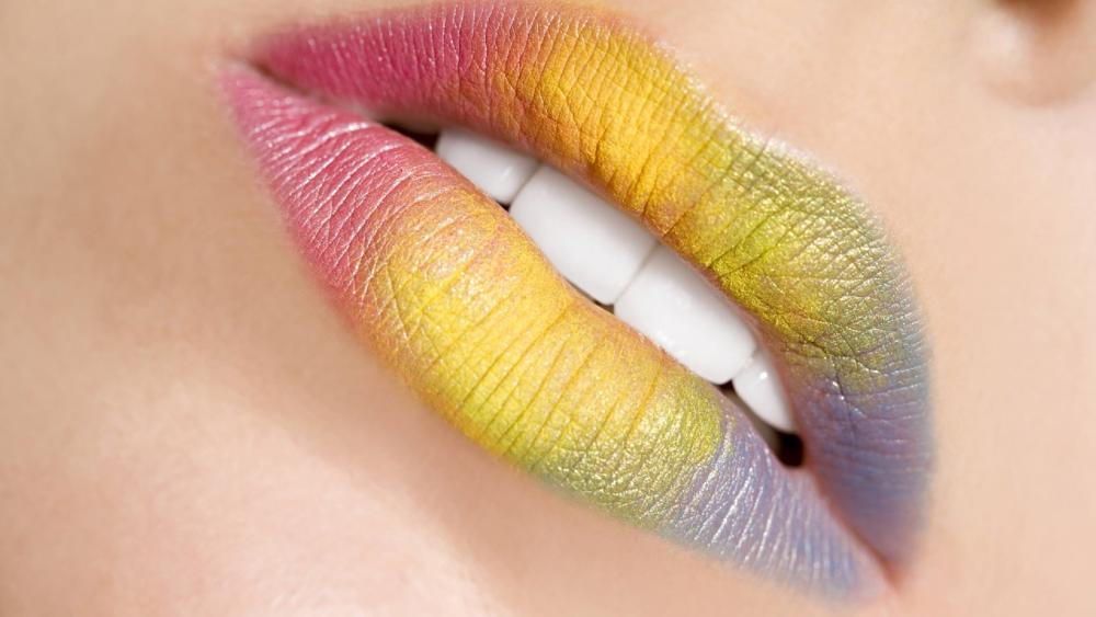 Rainbow Lips wallpaper