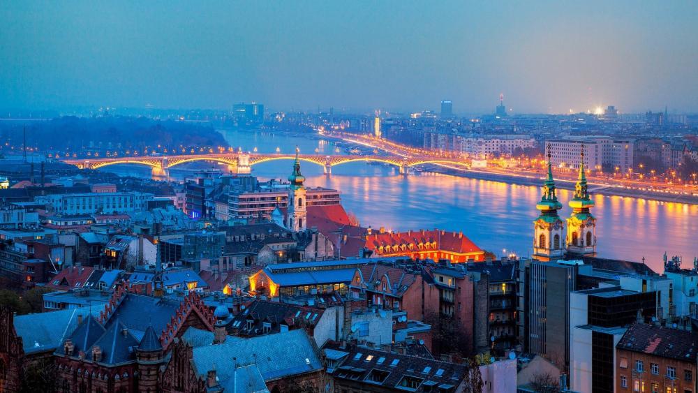 Budapest panorama wallpaper