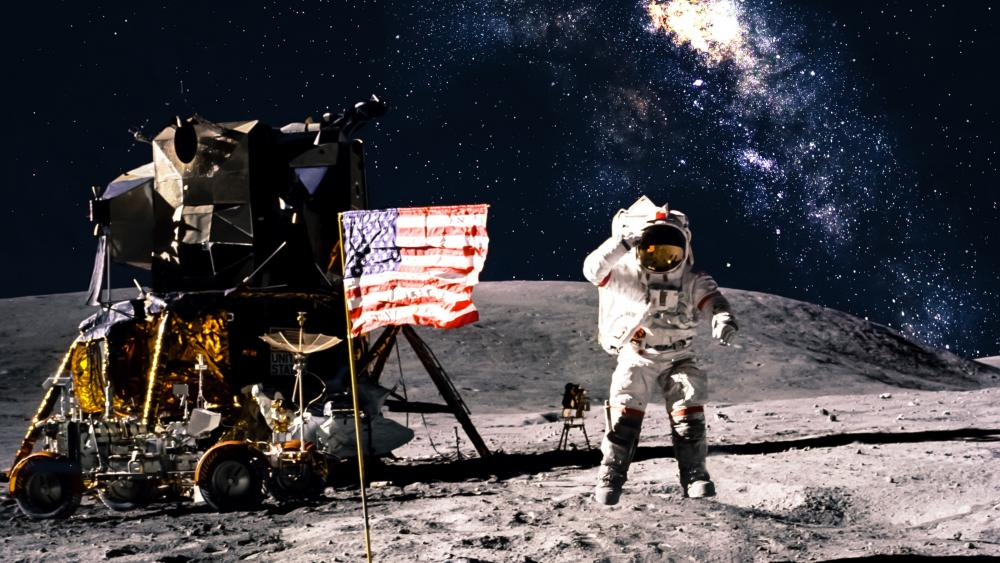 Apollo program moon landing wallpaper