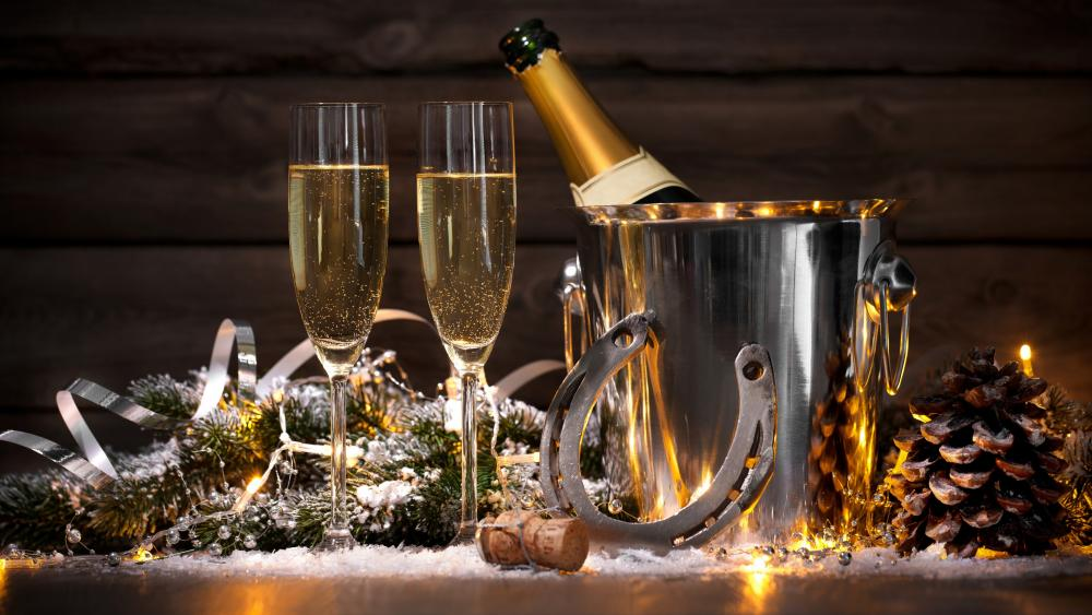New Years Eve with champaign wallpaper