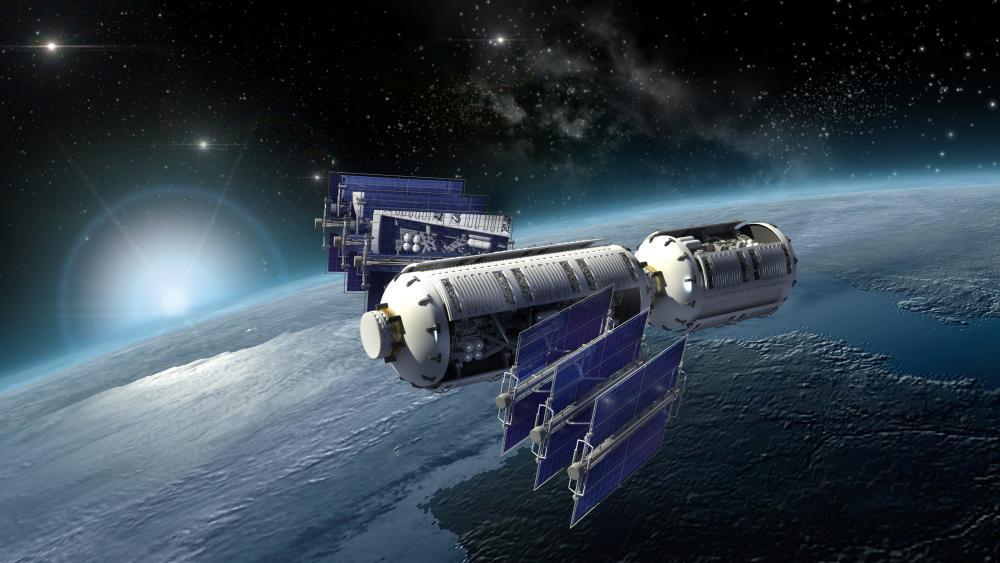 Space tech wallpaper