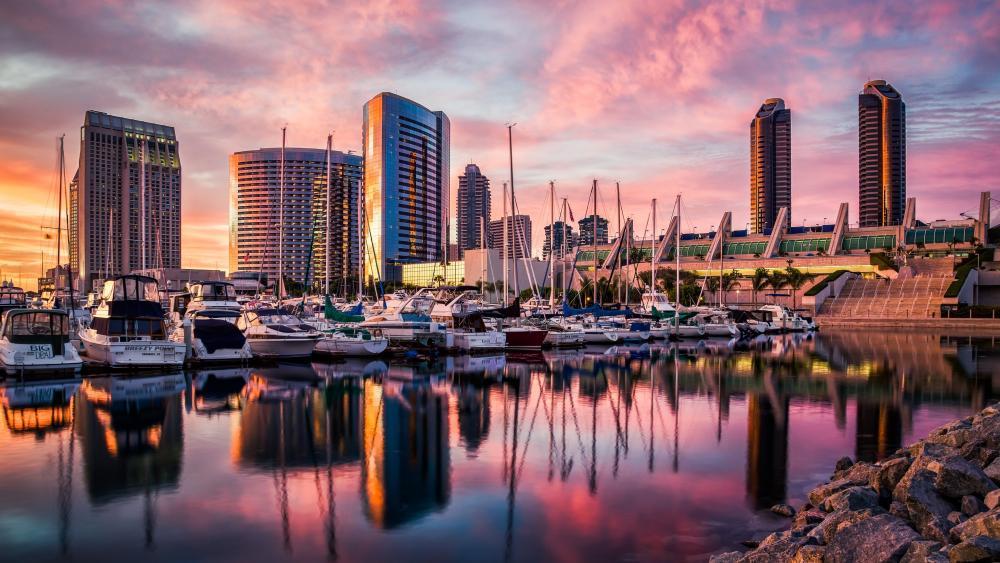 San Diego marina wallpaper
