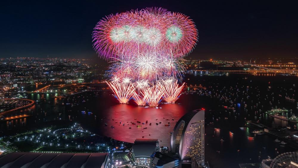 Fireworks show wallpaper