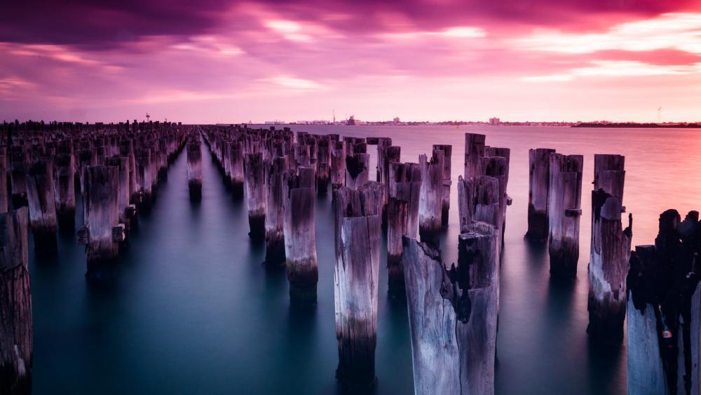 Princes Pier in Melbourne, Australia wallpaper