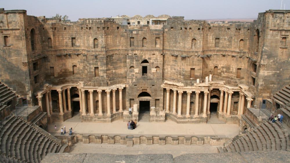 Bosra Amphitheater wallpaper