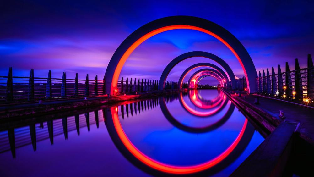 Falkirk Wheel (Scotland) wallpaper