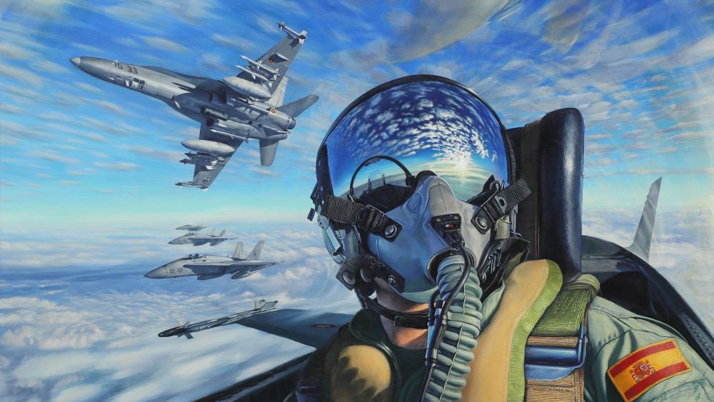 McDonnell Douglas F/A-18 Hornet Painting artwork wallpaper