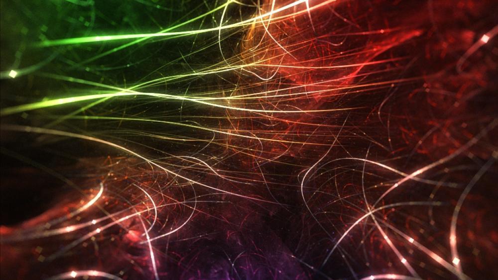 Fibers - fractal art wallpaper