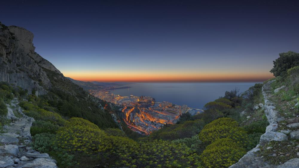 Monte-Carlo in semidarkness wallpaper