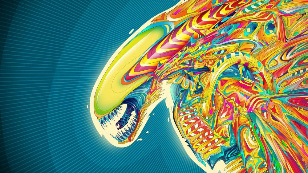 Colorful alien wallpaper