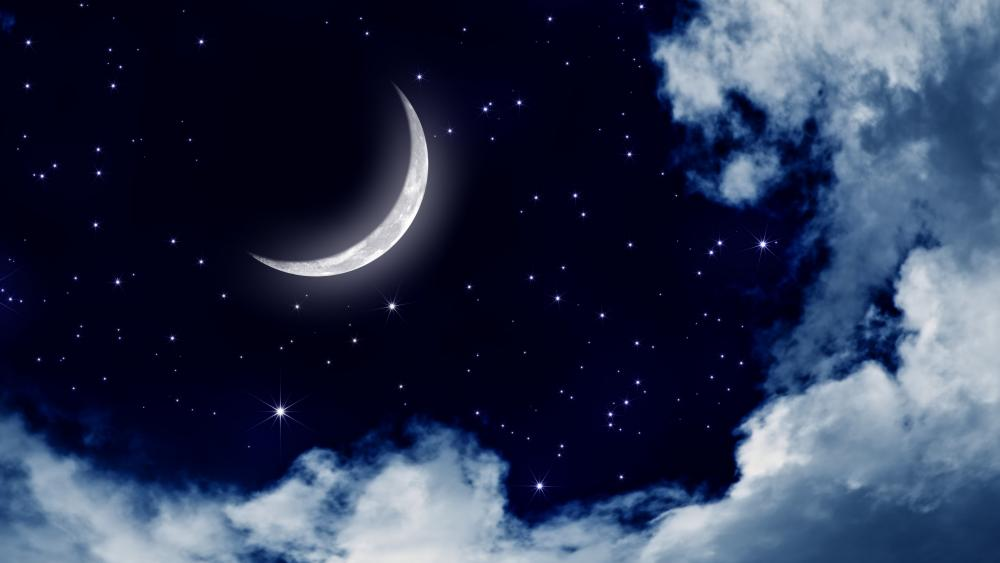 Moonlit sky wallpaper