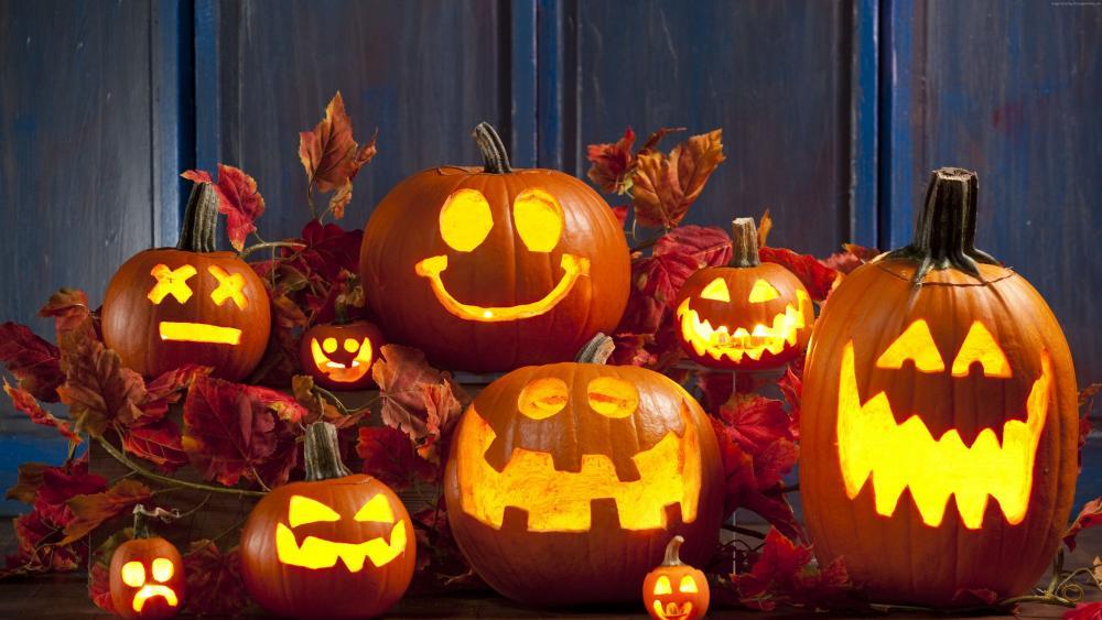 Halloween Jack O' Lanterns wallpaper