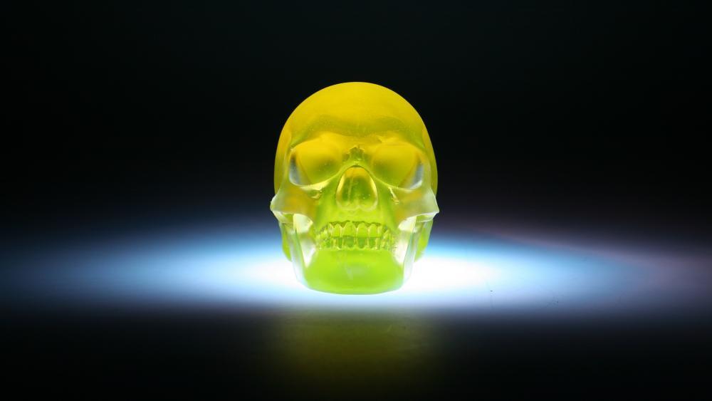 Neon skull wallpaper