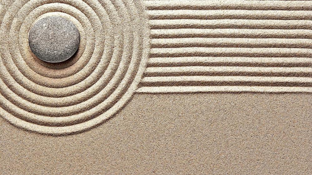 Zen circles wallpaper