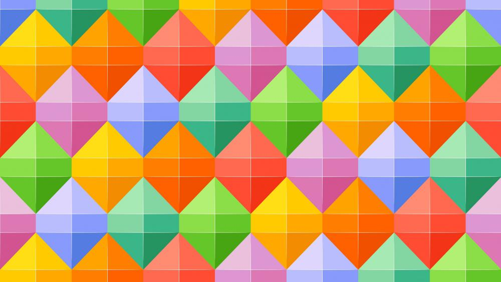 Cheerful colors geometric pattern wallpaper