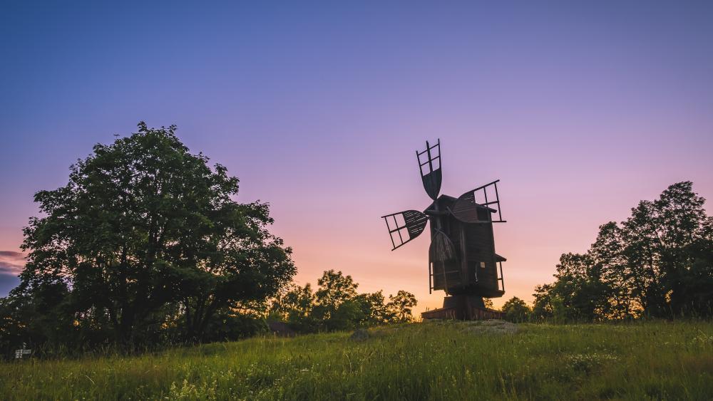 Old windmill wallpaper