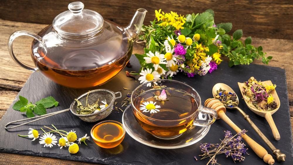 Herb tea wallpaper
