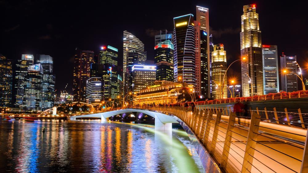 Jubilee Bridge (Marina Bay, Singapore) wallpaper