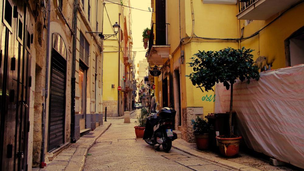 Italian alley wallpaper